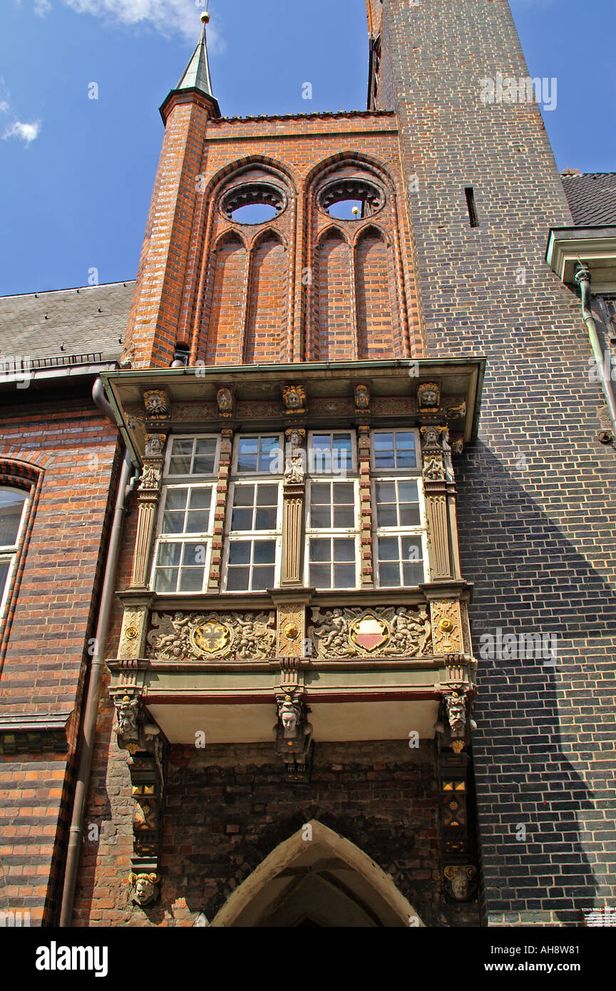 Detail townhall Luebeck - Stock Image