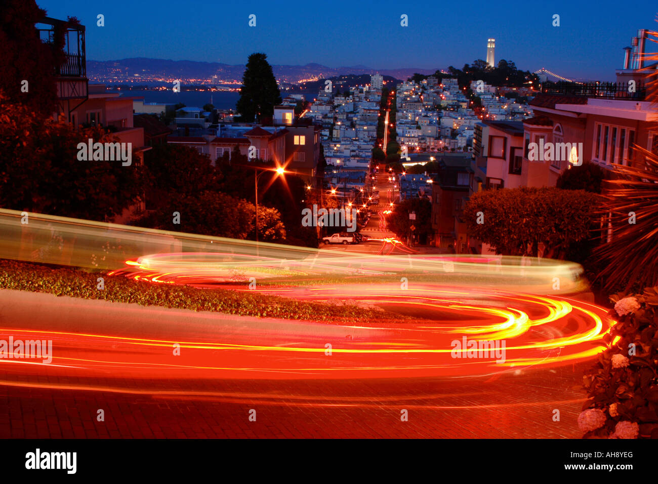 Lombard Street, San Francisco Stock Photo
