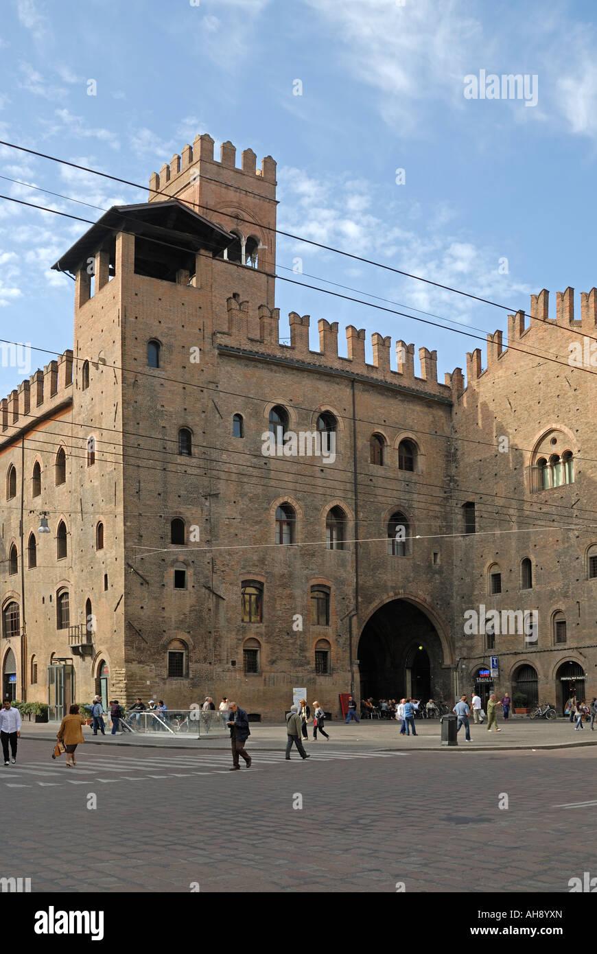 Palazzo Re Enzo, Bologna, Italy - Stock Image