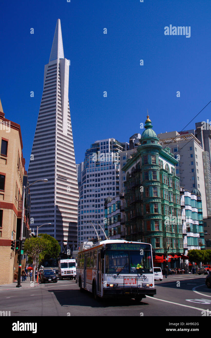 MUNI bus, San Francisco Stock Photo