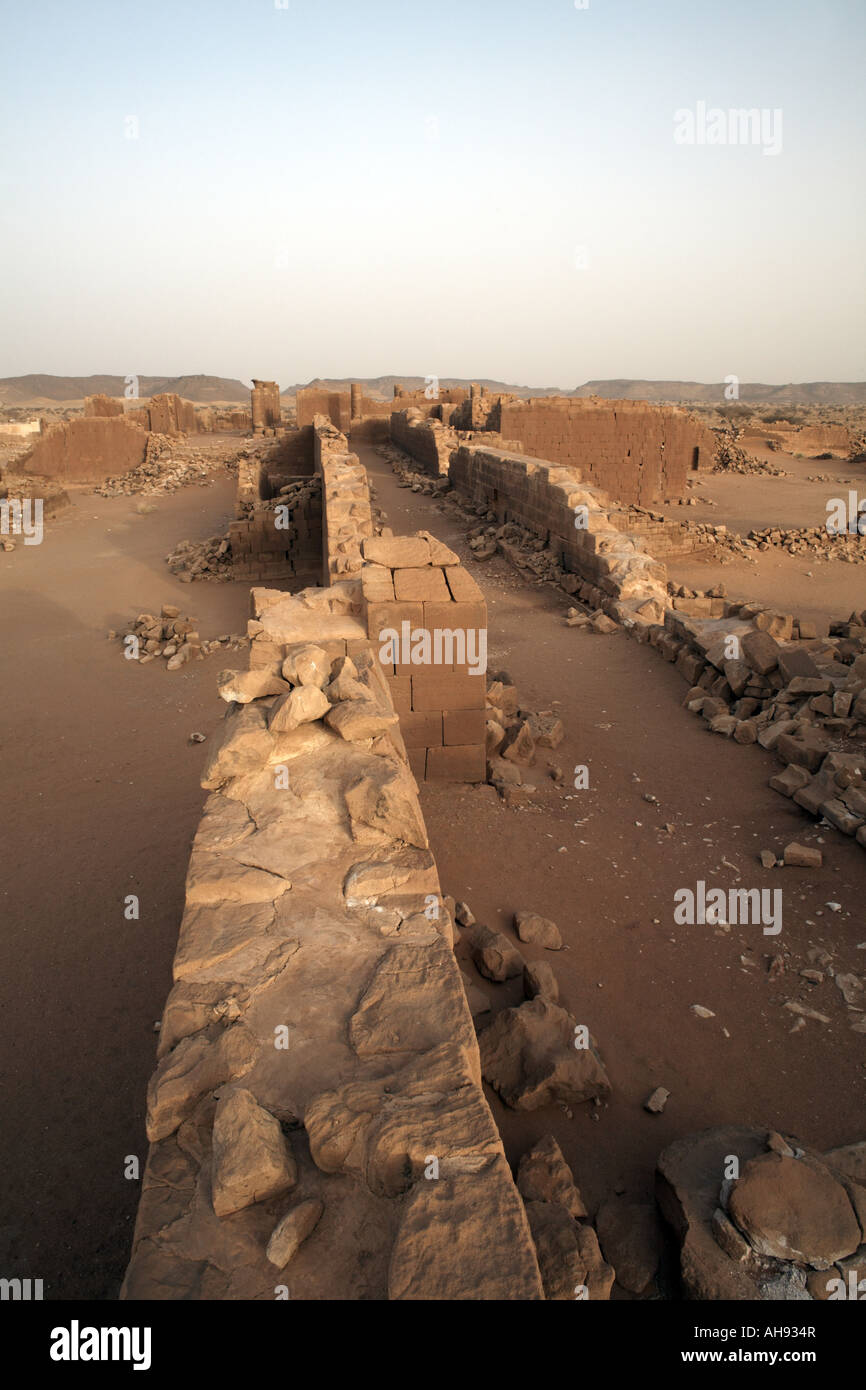 Temple 100 in the Great Enclosure at Musawwarat es Sufra, Sudan, Africa - Stock Image