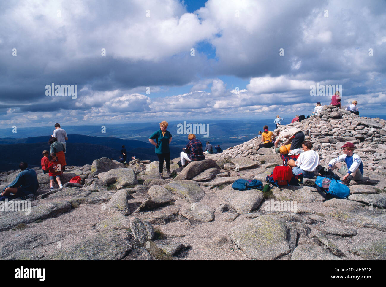 Summit of Cairngorm, before railway and new access rules,Highlands, Scotland, UK, GB. - Stock Image