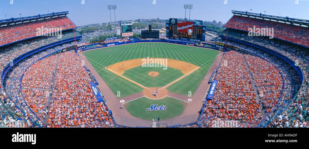 Shea Stadium New York NY Mets v SF Giants Stock Photo