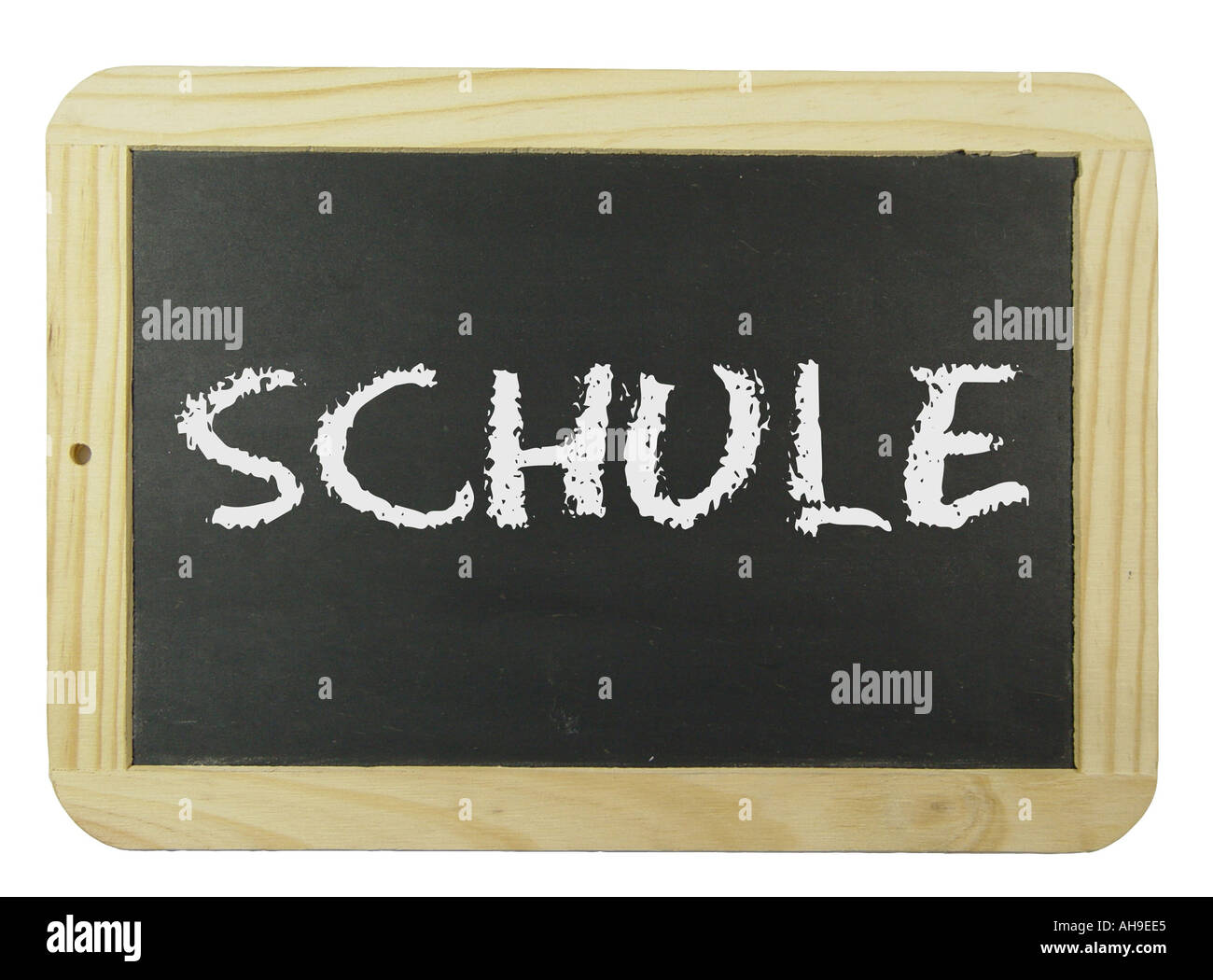 Chalk board with the label school Symbol for school learning and instruction Stock Photo