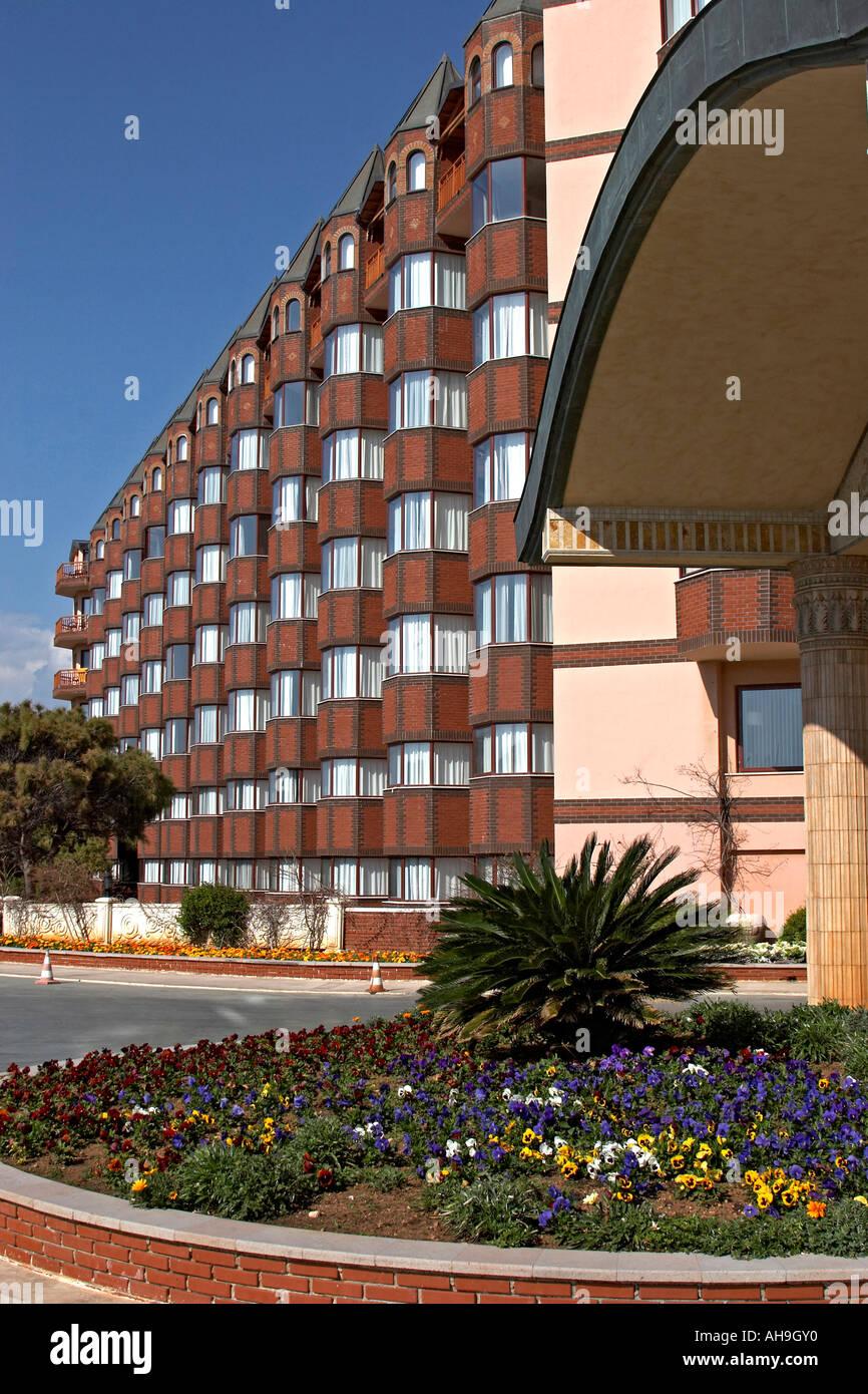 Front Of Papillon Zeugma 5 Star Hotel Near Antalya Turkey Stock
