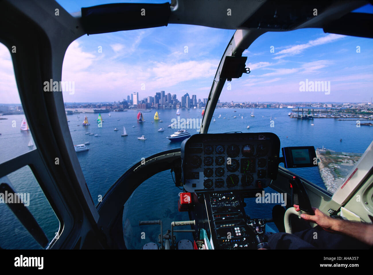 Why Are Helicopters Flying Over Boston Today >> View Out A Helicopter Over Boston Harbor And The Downtown Skyline
