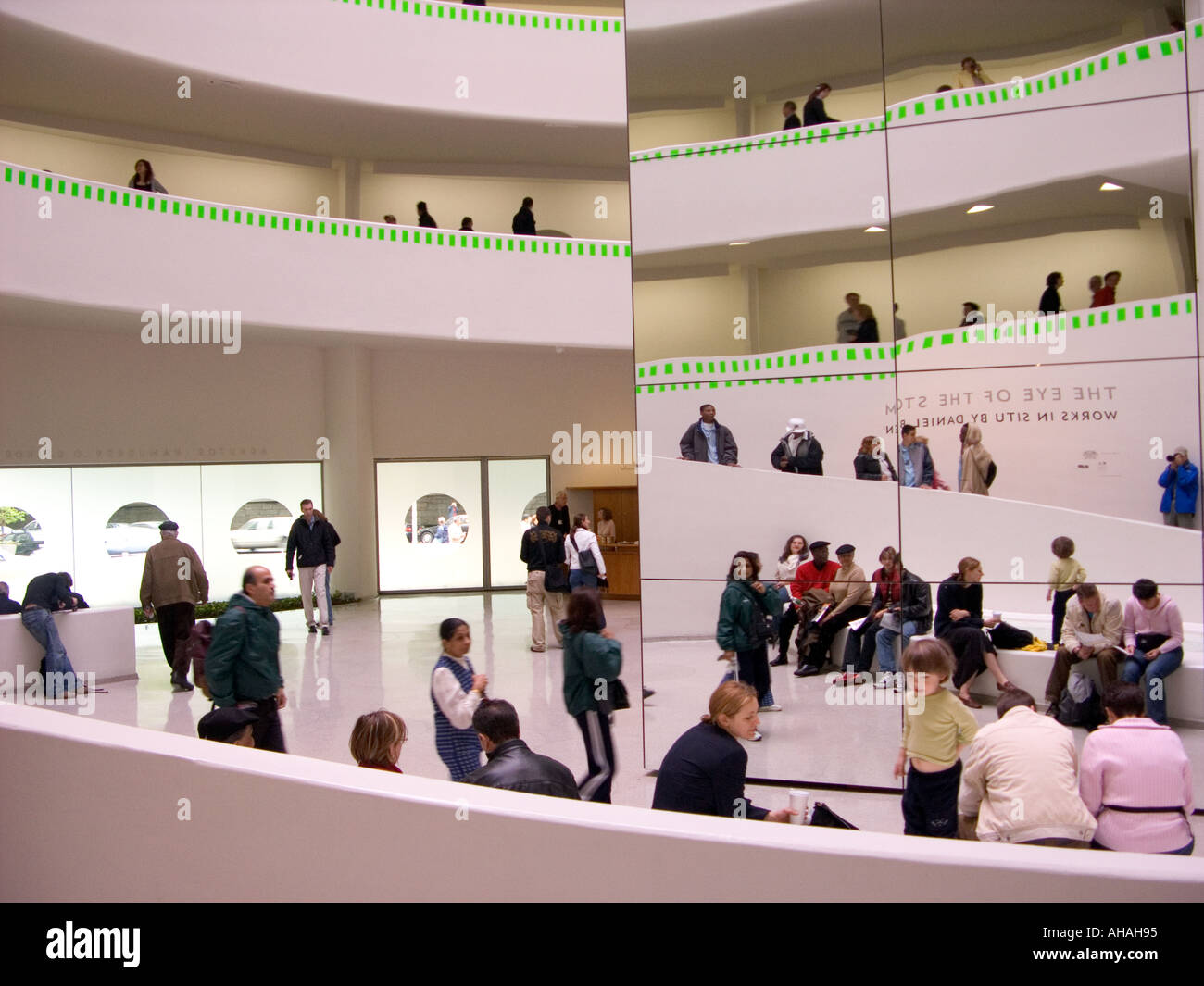 Guggenheim Museum New York Family High Resolution Stock