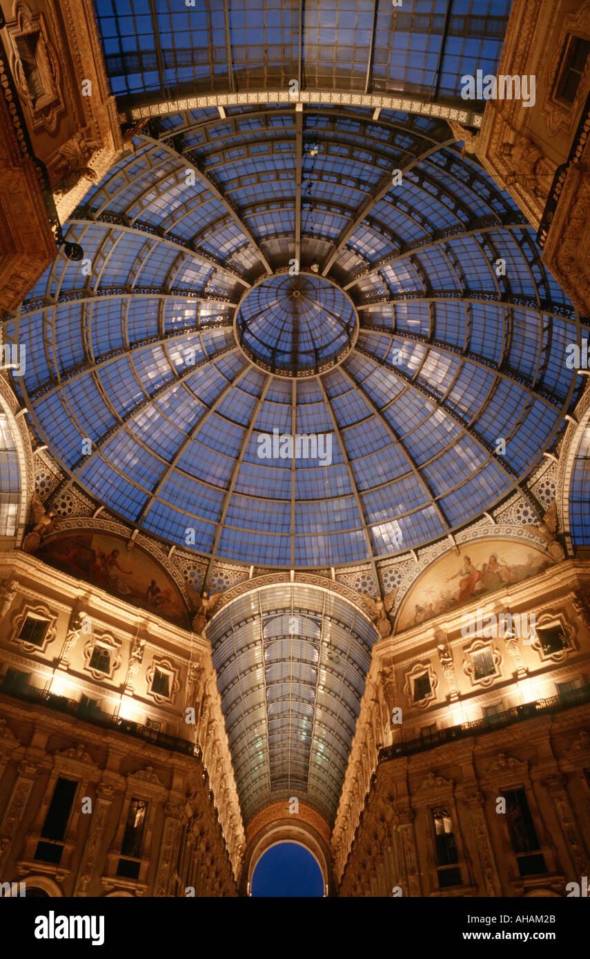 Milan Italy Galleria Vittorio Emanuele II - Stock Image