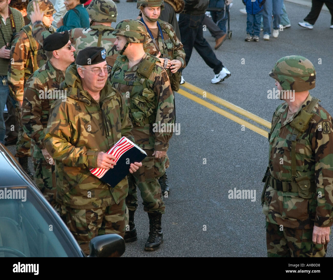 National Guard Unit Preparing for Deployment to Iraq. USA - Stock Image