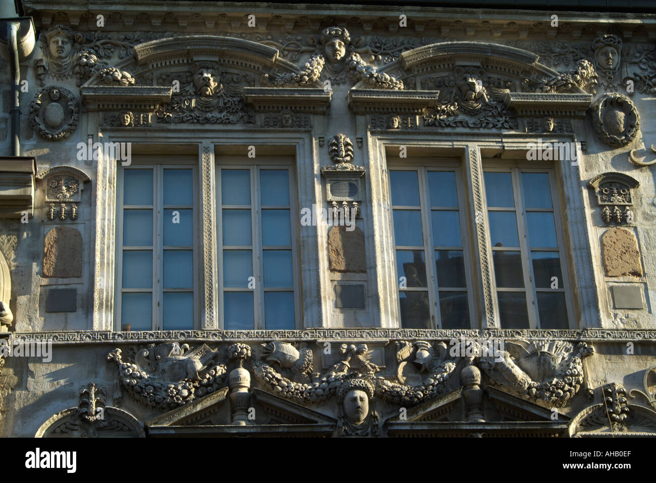 France Cote d Or Dijon elaborate building decoration Stock Photo