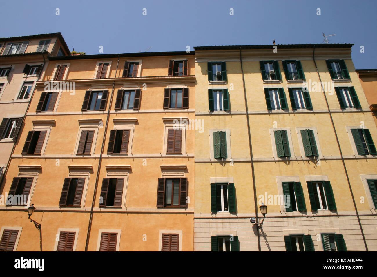 Building Facade Rome Italy - Stock Image