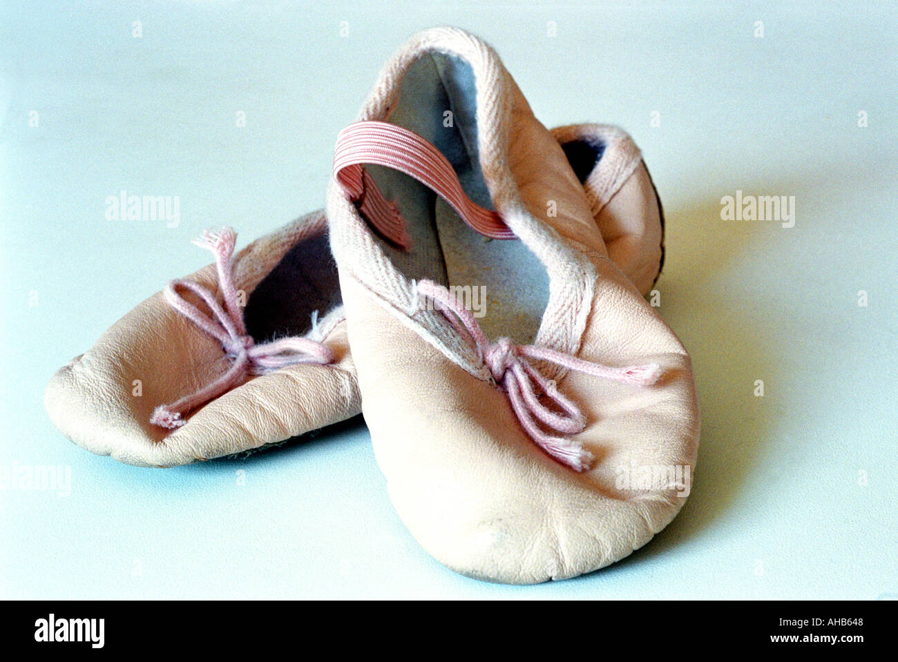 A pair of childs ballet shoes - Stock Image