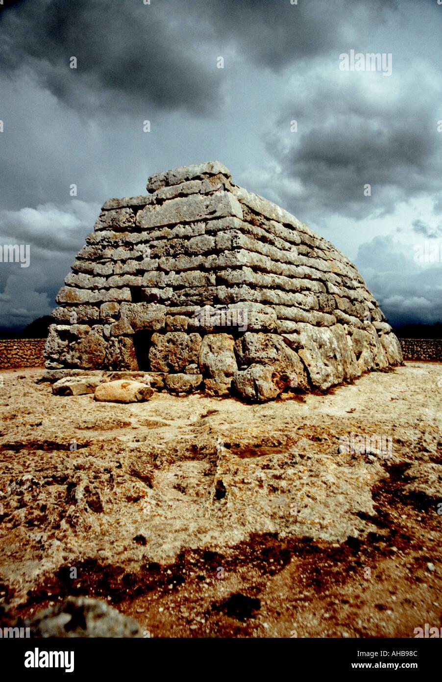 Naveta at Es Tudons Menorca - Stock Image