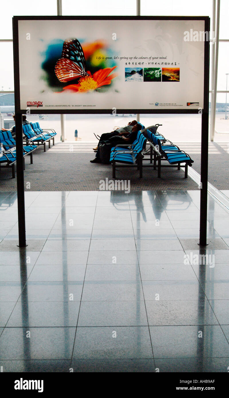 Hong Kong International Airport Chek Lap Kok hong kong - Stock Image