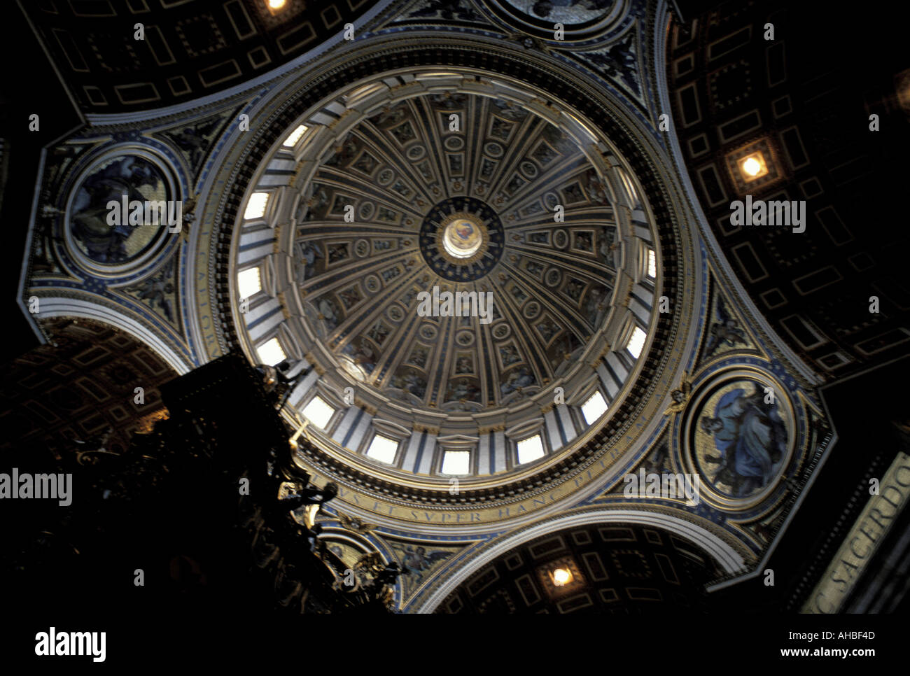 St Peter s cathedral dome Vatican city - Stock Image