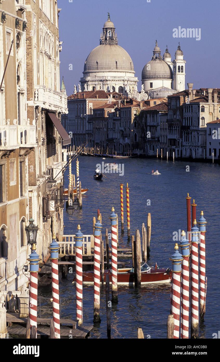 Canal Grande from Ponte Accademia Venice Veneto Italy - Stock Image