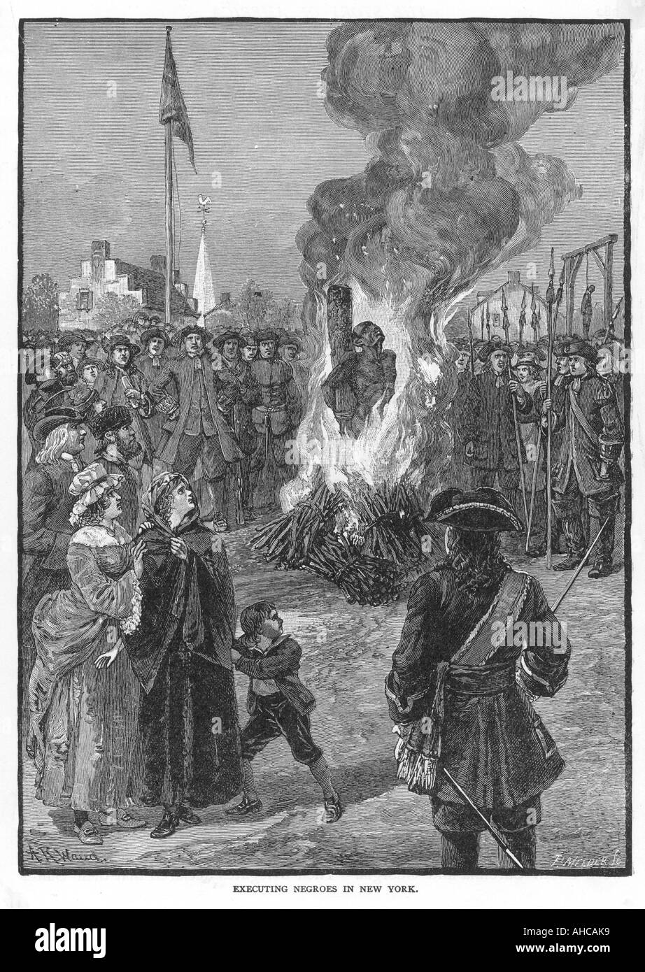 Executing Negroes C18 - Stock Image