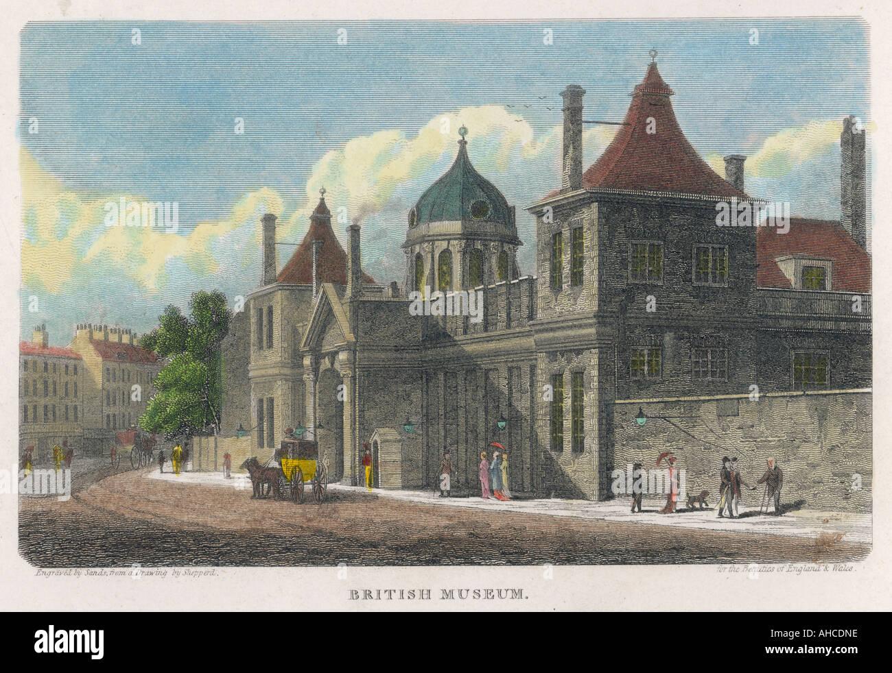 British Museum In 1815 - Stock Image