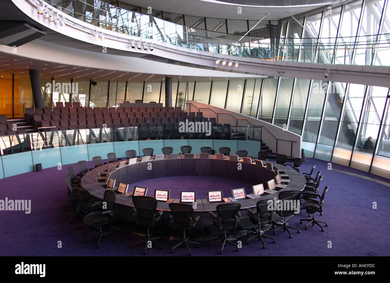 day GLA City Hall interior designed by Foster and Partners in London England Britain United Kingdom UK - Stock Image