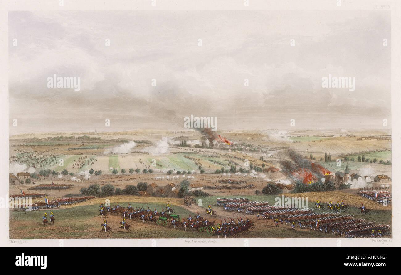 Battle Of Ligny - Stock Image