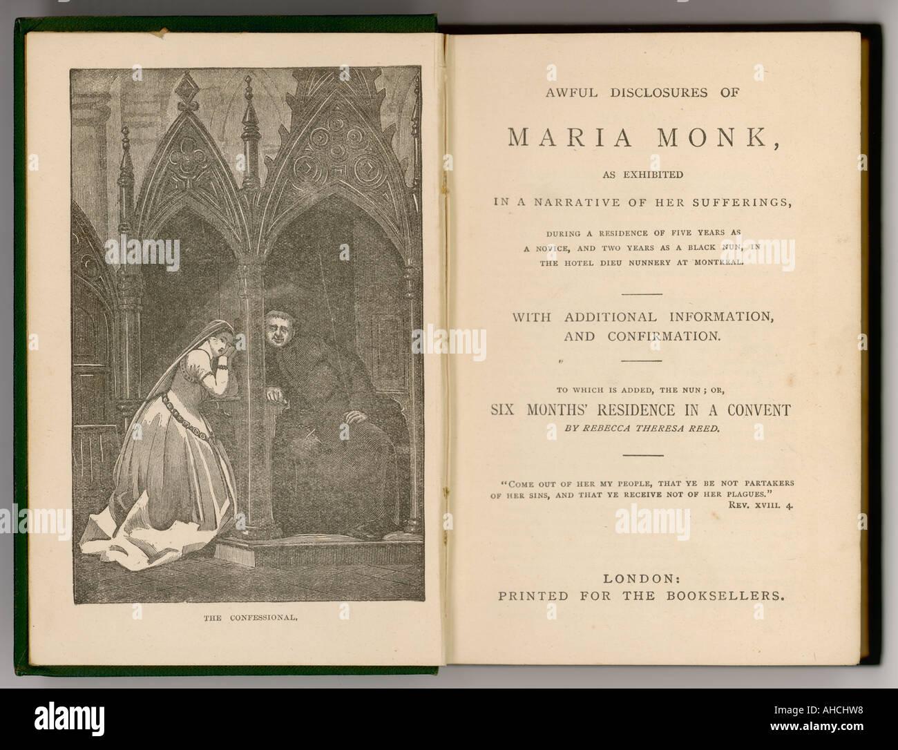 Maria Monk Revelations Stock Photo - Alamy
