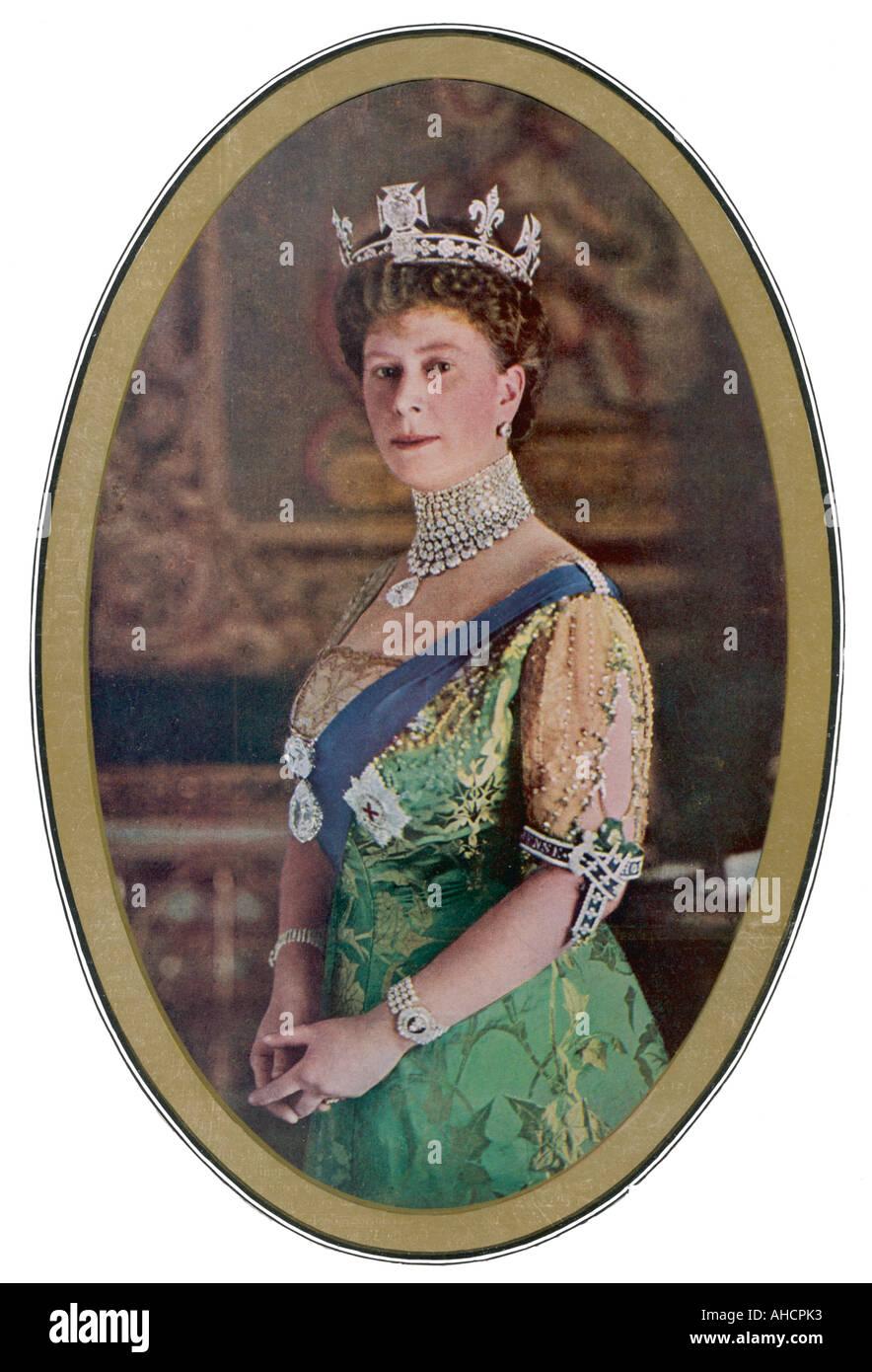 Queen Mary Koh I Noor - Stock Image
