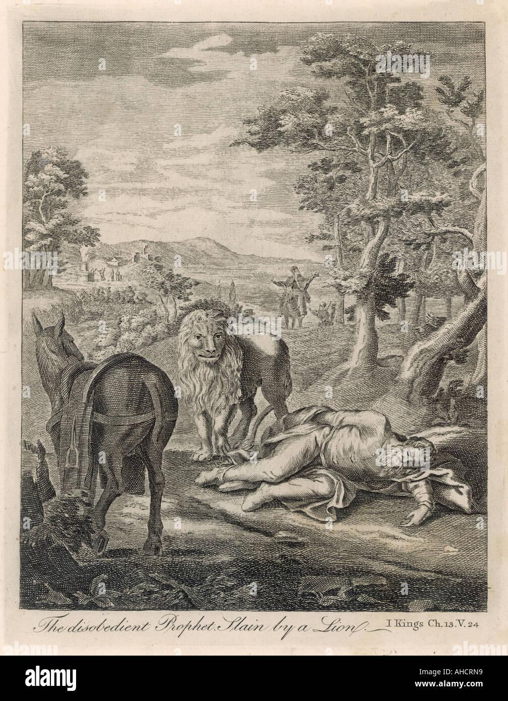 The Disobedient Prophet - Stock Image