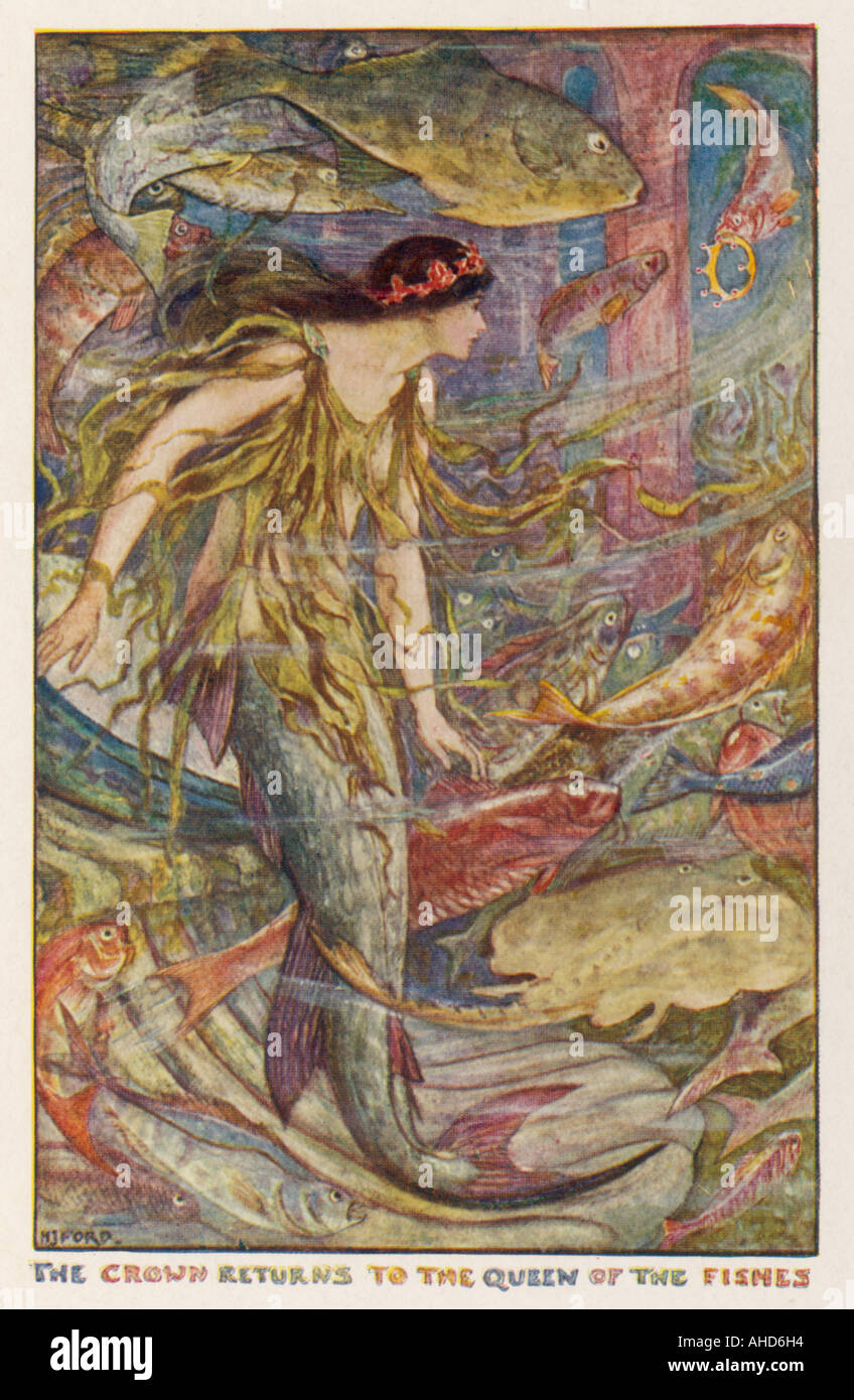 The Girl Fish - Stock Image