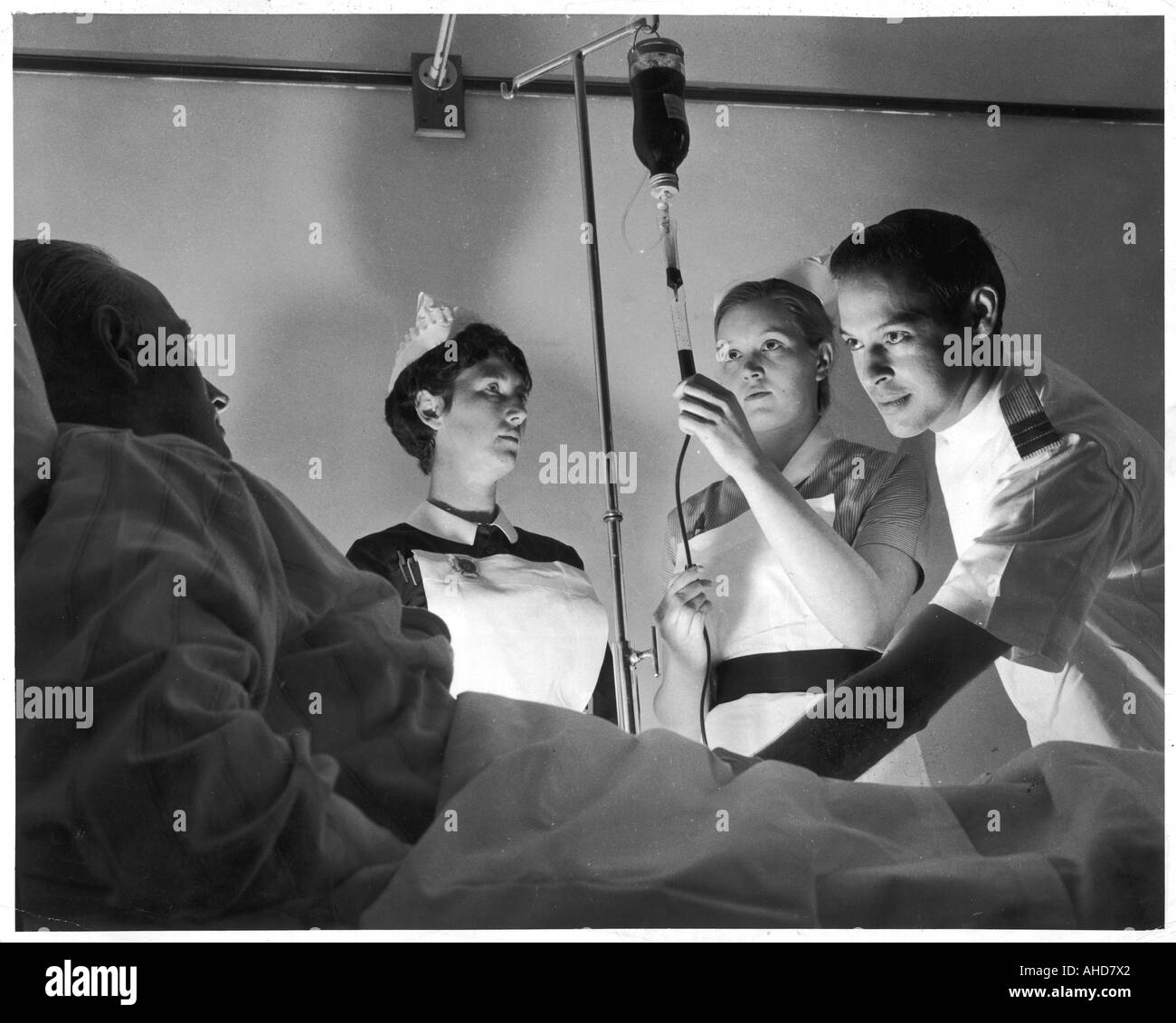 Blood Transfusion 1966 - Stock Image
