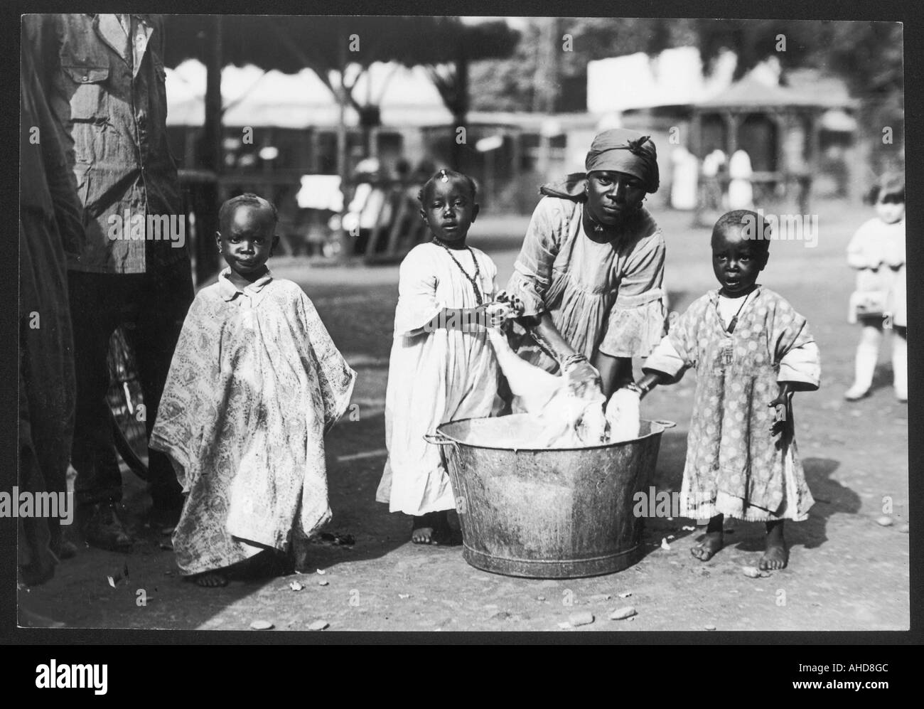 Washing Day  Nigeria - Stock Image