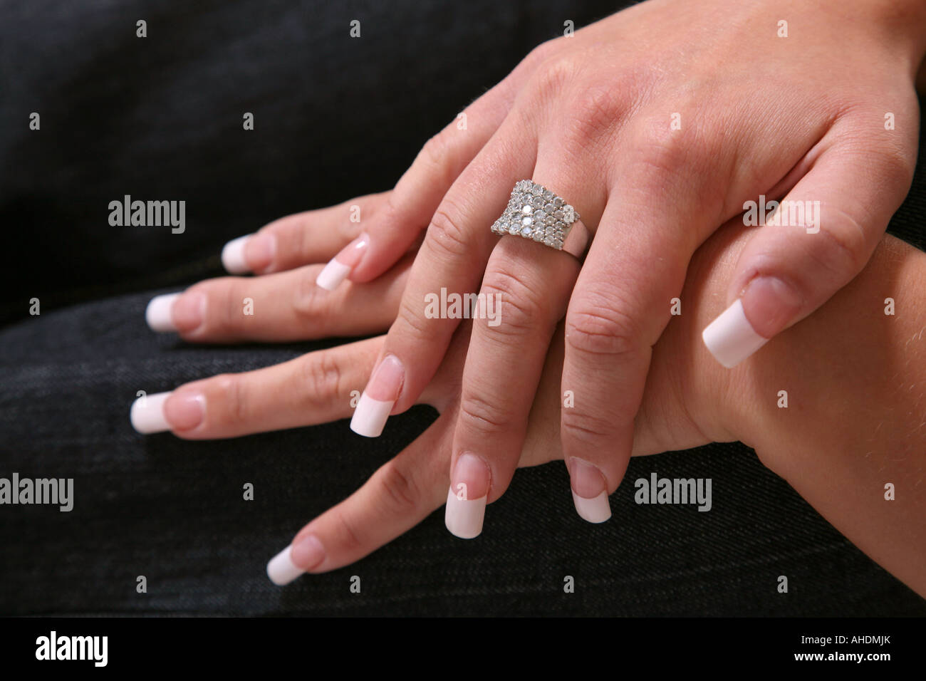 French Nails Stock Photos & French Nails Stock Images - Alamy