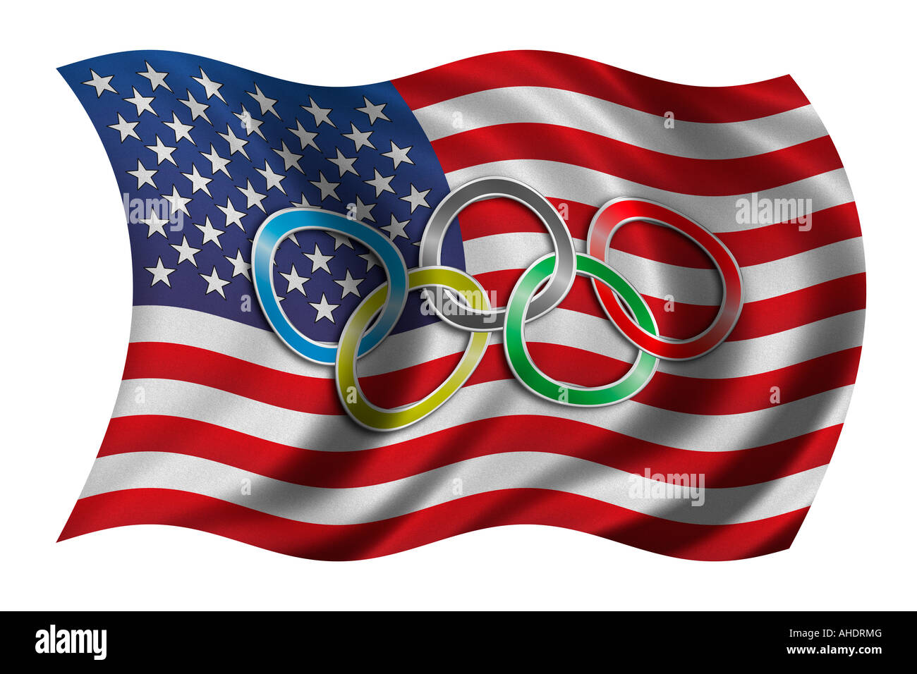 Flag Usa Olympic Rings Cut Out Stock Images Pictures Alamy