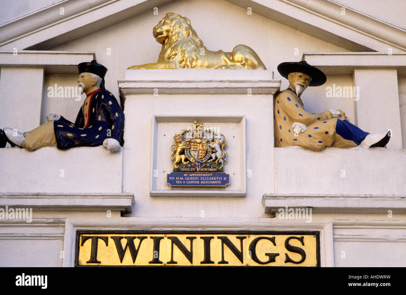 Strand London Twinings Tea Royal Warrant Tea Merchants - Stock Image