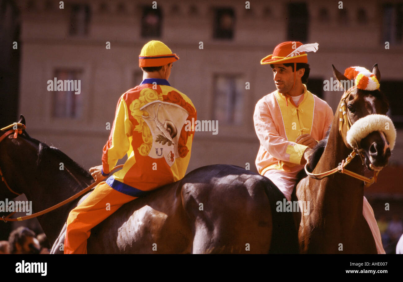 The start of the Palio is said La Mossa Siena Tuscany Italy Stock Photo