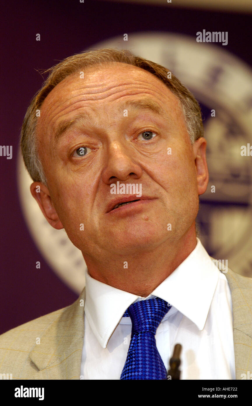 Former Mayor of London Ken Livingstone addresses the 2003 AAD annual conference of train drivers trade union ASLEF - Stock Image