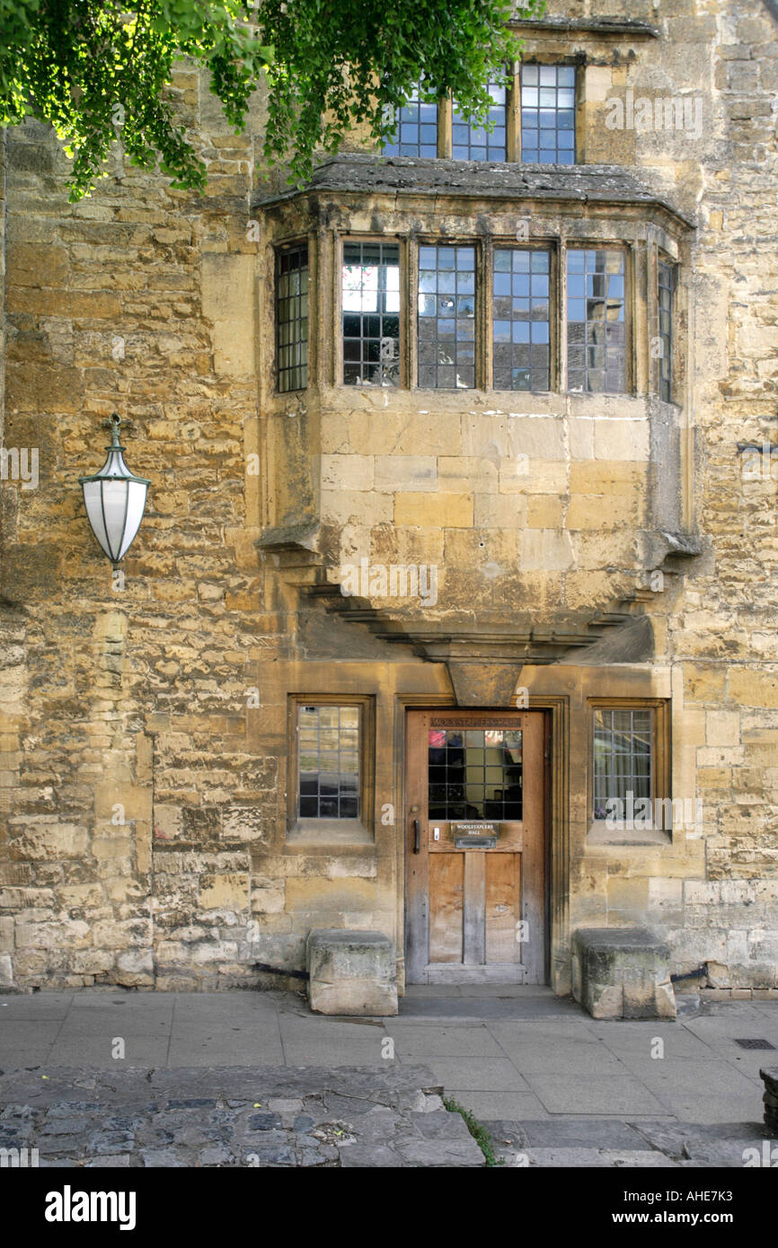 Stock Photo of a Wool Merchants' Hall in the English Cotswolds - Stock Image