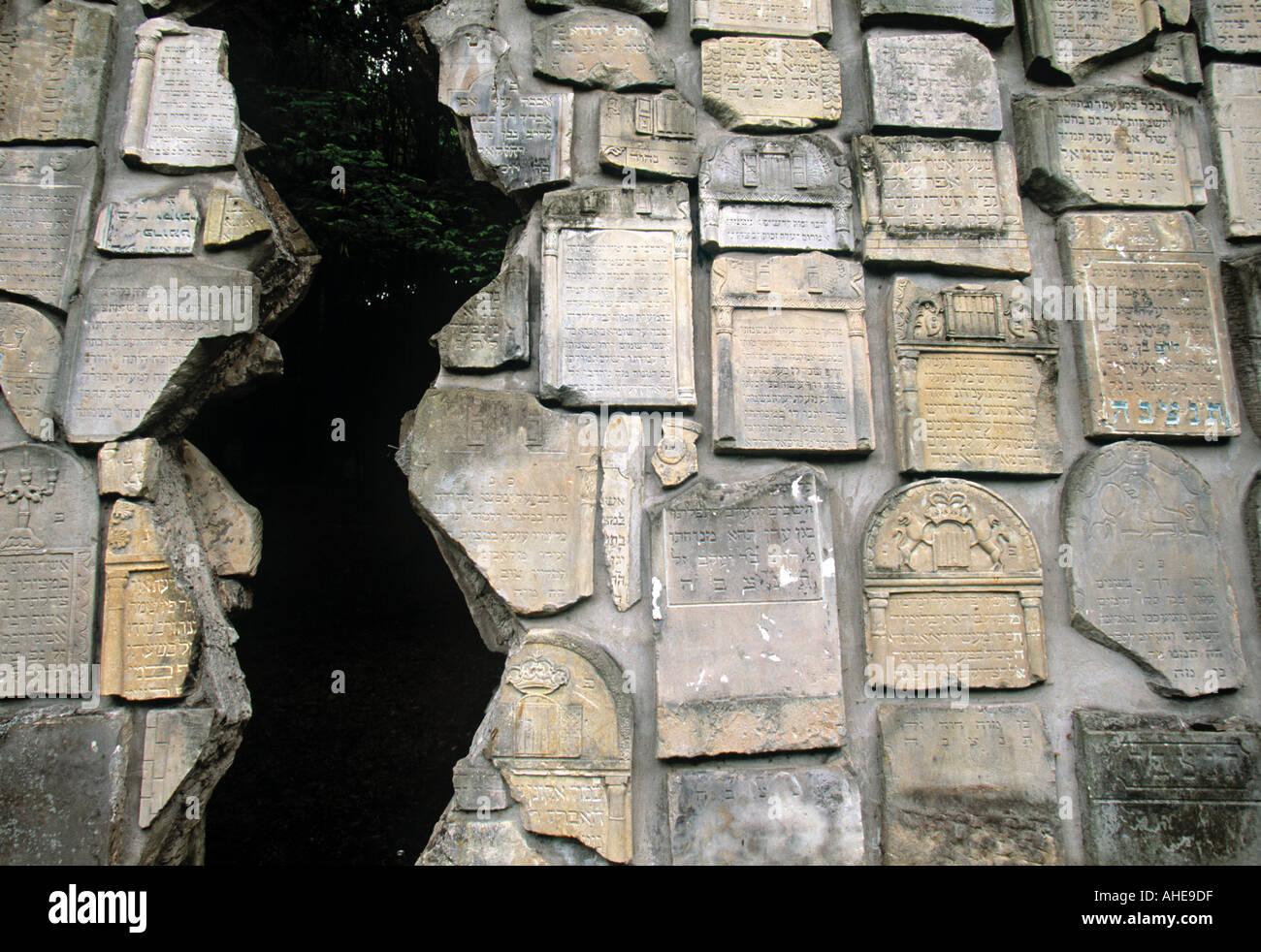 Jewish monument, Kazimierz Dolny, Malopolska, Poland - Stock Image