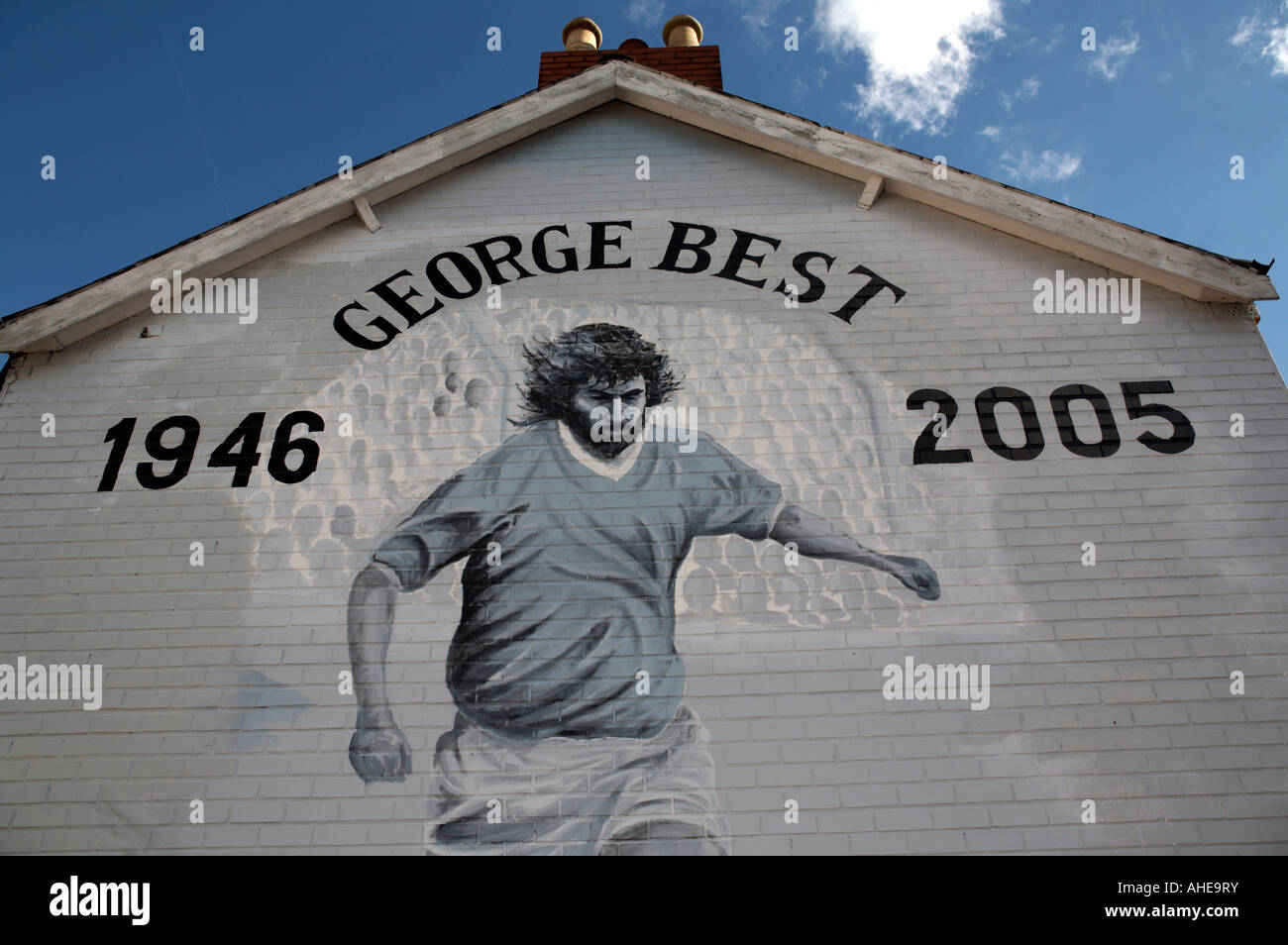 Exterior Wall Mural The George Best Memorial Mural On The Lower Cregagh Road
