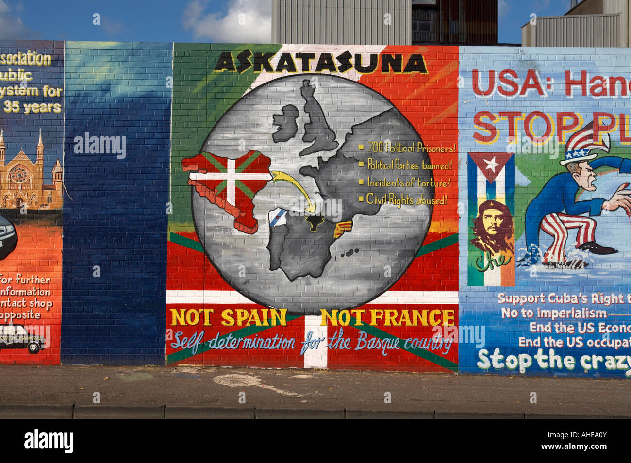 Askatasuna Basque country mural as part of International wall murals