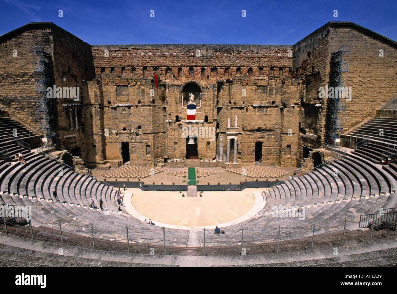 Roman Theatre, Orange, Provence, France Stock Photo ...  Roman Theatre, ...