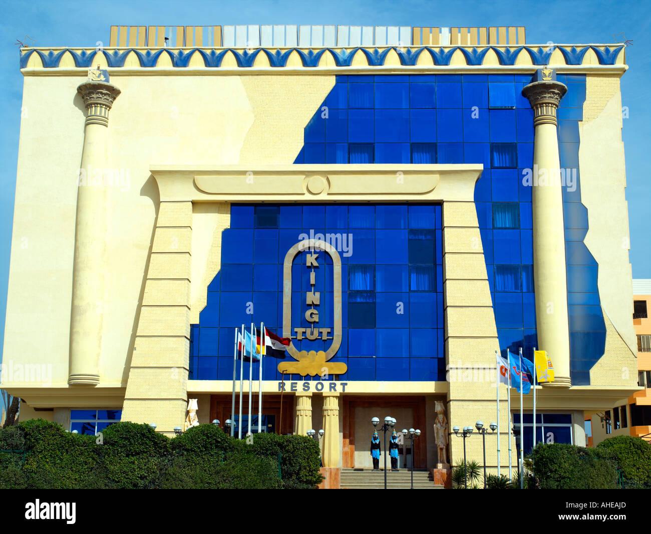 The 'King Tut' resort Hotel in Hurghada - Stock Image