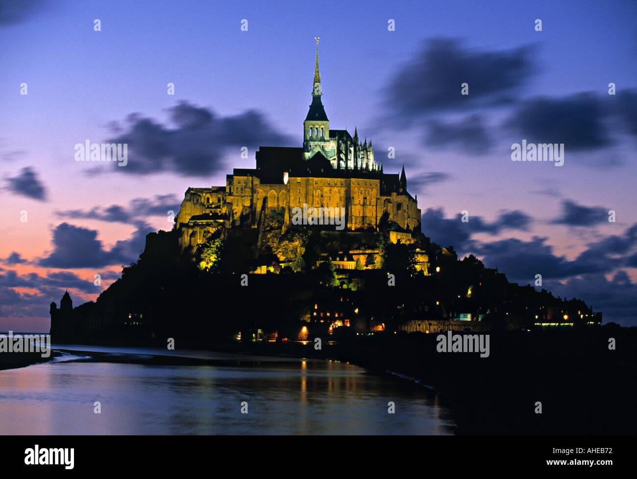 Mont St Michel, Manche, Normandy, France - Stock Image