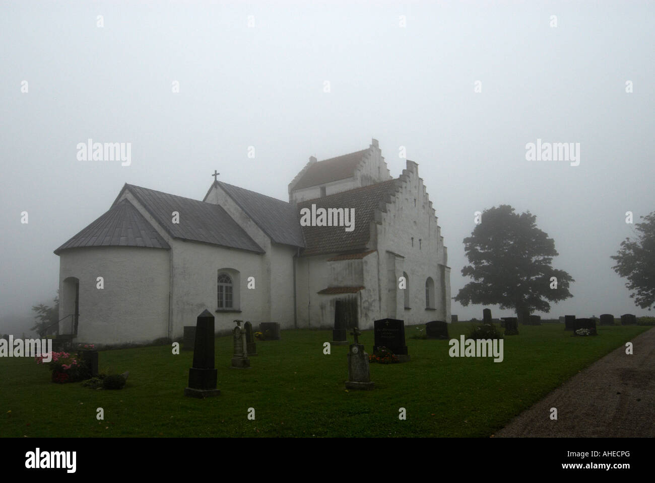 Ravlunda church in Sweden - Stock Image