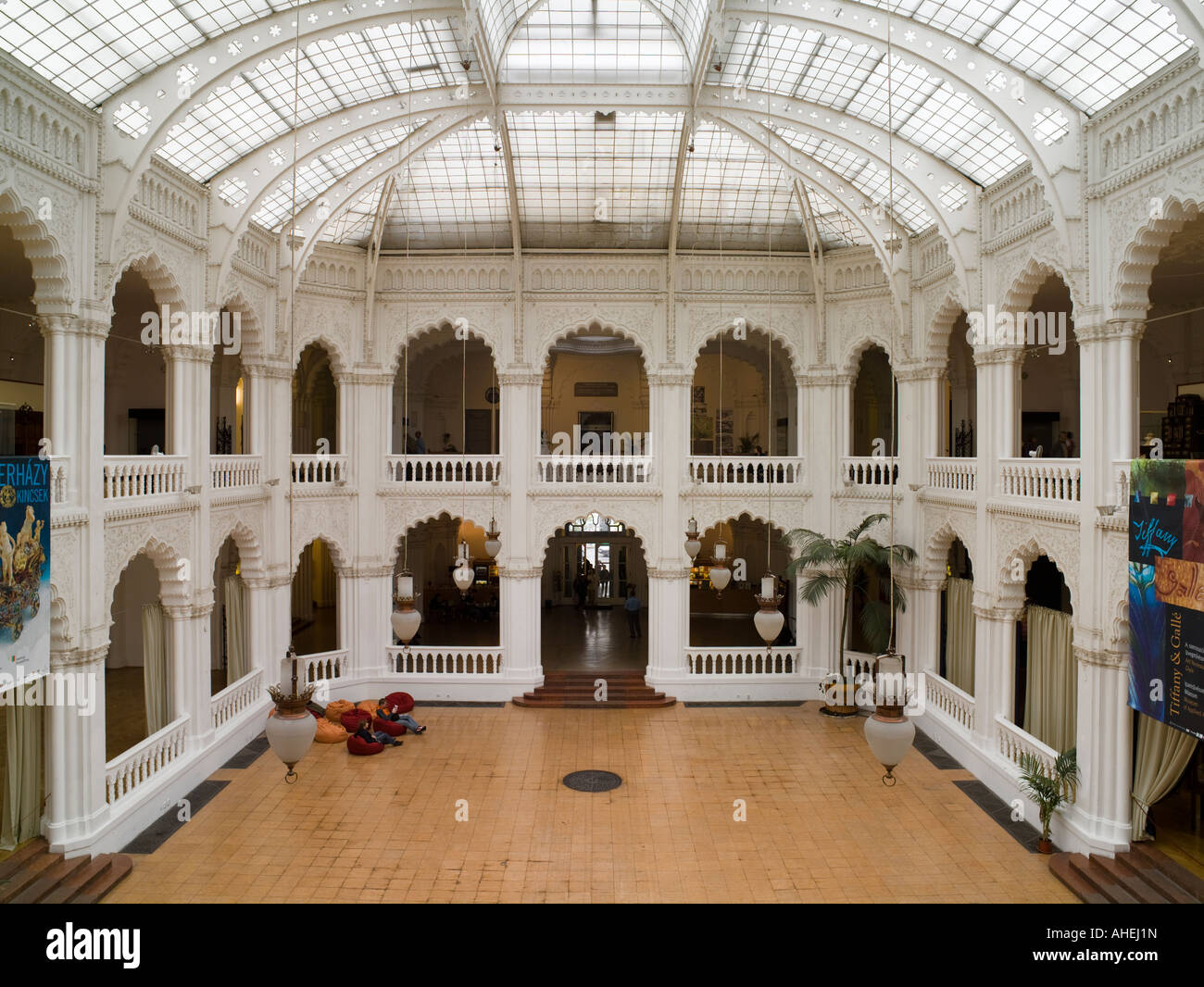 Interior Courtyard Museum Of Applied Arts Budapest Hungary Stock Photo Alamy