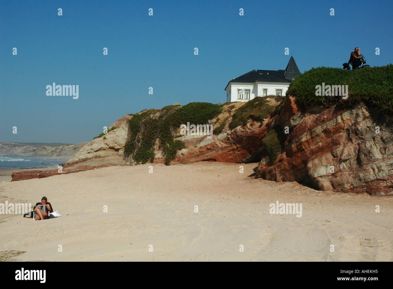 The beach of Baleal a small island located 3 kilometres north of Peniche, in the western region of Portugal - Stock Image