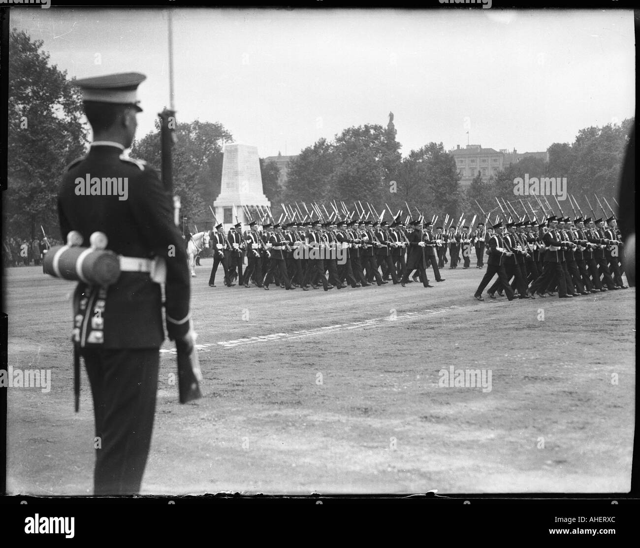 Trooping The Colour Black and White Stock Photos & Images