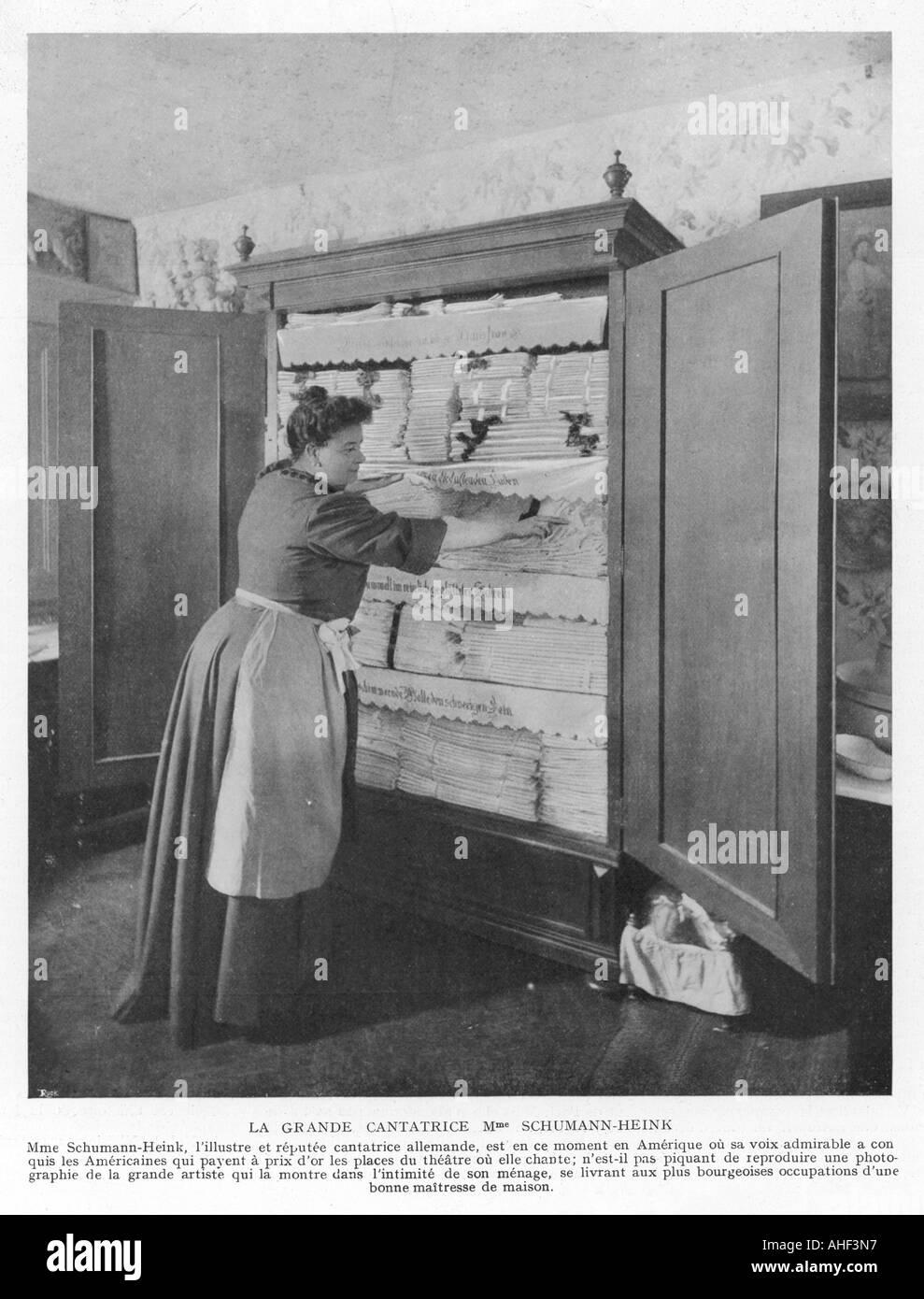Linen Cupboard - Stock Image