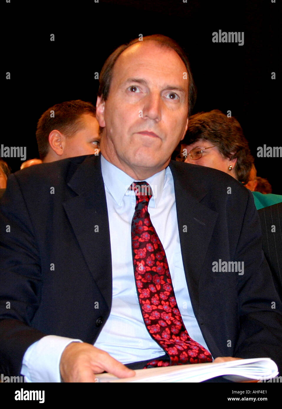 Simon Hughes Lib Dem MP for Southwark North and Bermondsey Portrait Lib Dem Conf Brighton Sept 2003  - Stock Image