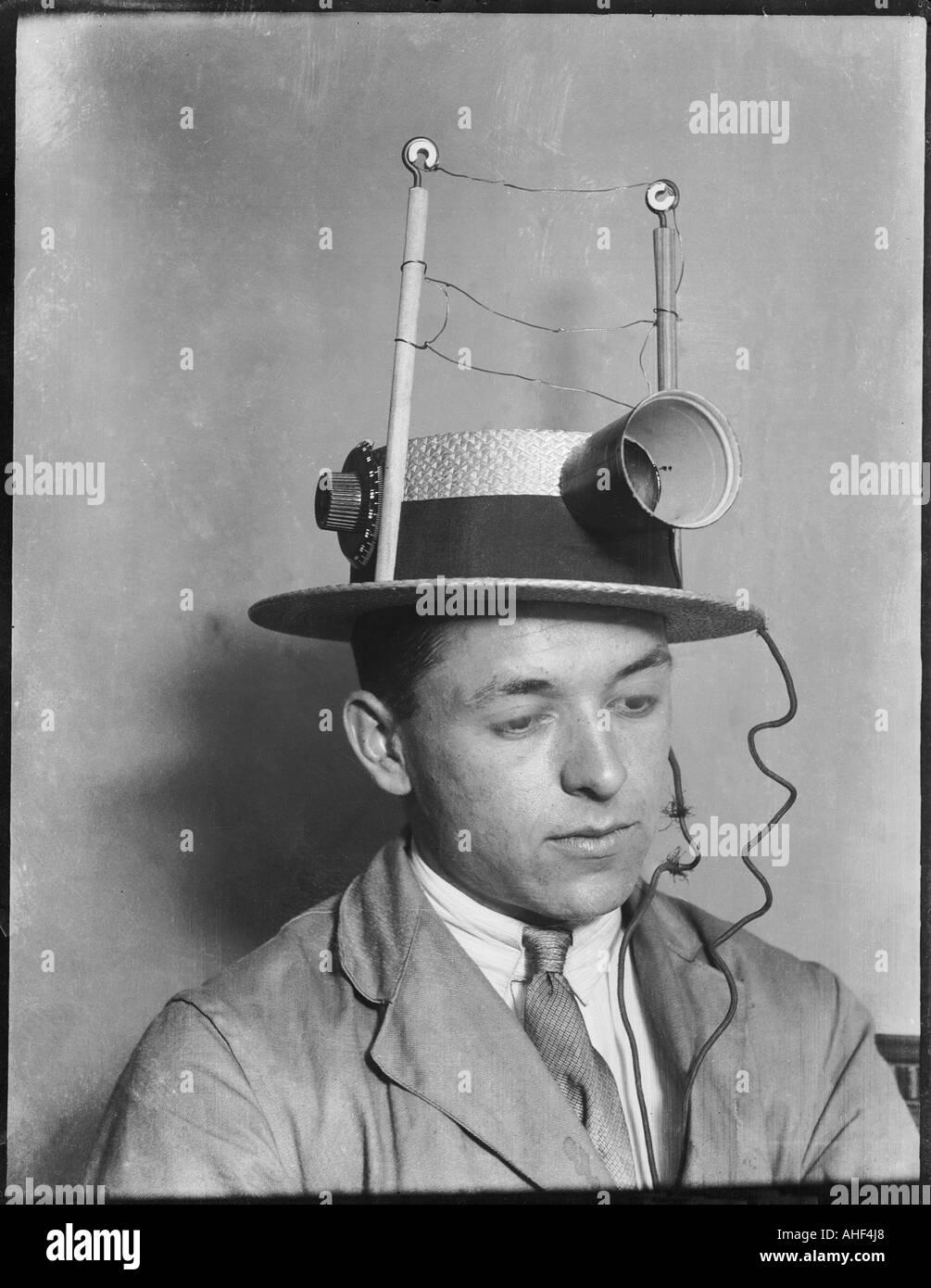 Hat Wireless 1930s - Stock Image