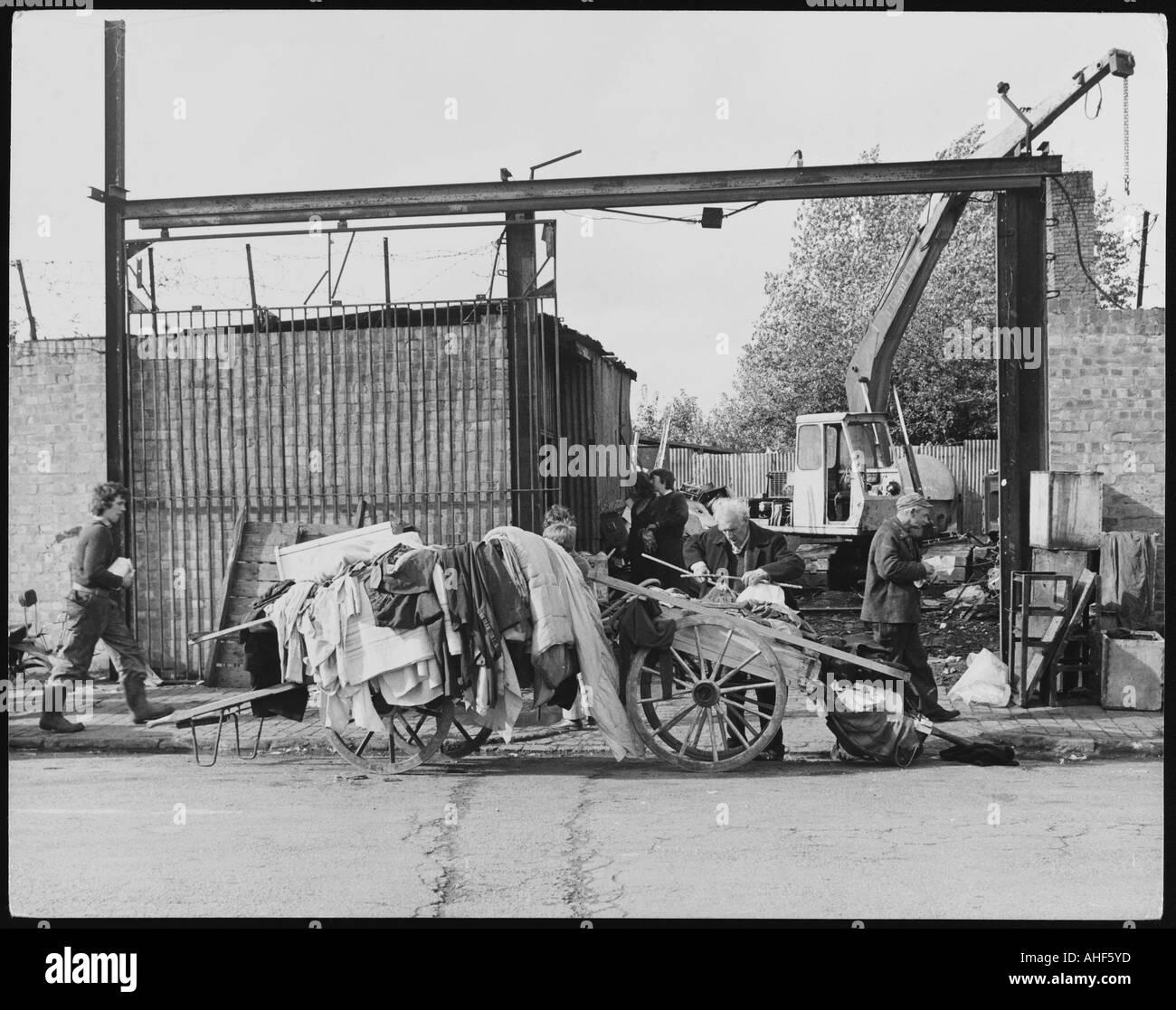Scrap Yard 1970s - Stock Image